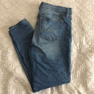 JCrew ankle skinny jeans light wash